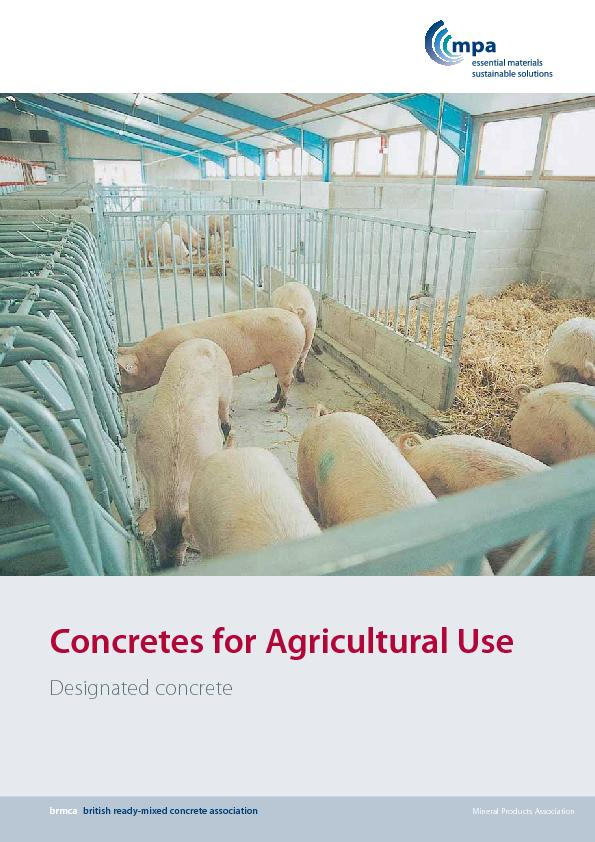 Designated concretes are quality assured designed concretes thatconfor