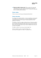 Heat stress in the workplace A brief guide Page  of  Health and Safety Executive This leaflet describes what you as an employer may need to do to protect your employees from heat stress in the workpl