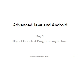 Advanced Java and Android