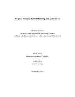 Conjoint Analysis, Related