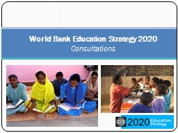 World Bank Education Strategy 2020