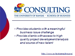 Provides students with a meaningful