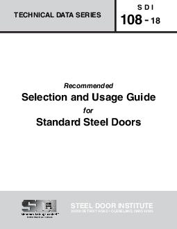 STEEL DOOR INSTITUTE   J  S D I   Recommended JJ for    JJ  Q To establish guide