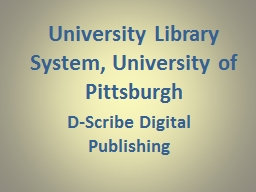 University Library System, University of Pittsburgh