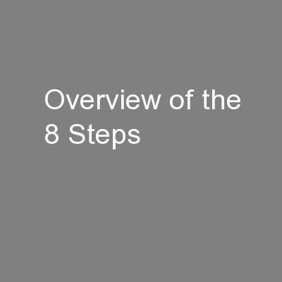 Overview of the 8 Steps