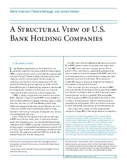 FRBNY Economic Policy Review  July   A Structural View of U