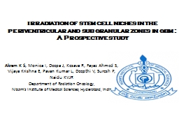 irradiation of stem cell niches in the