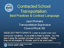 Contracted School Transportation: PowerPoint PPT Presentation