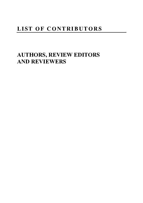AUTHORS, REVIEW EDITORS  AND REVIEWERS