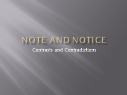 Note and Notice PowerPoint PPT Presentation