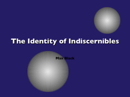 The Identity of Indiscernibles