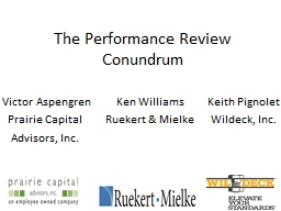The Performance Review Conundrum PowerPoint PPT Presentation