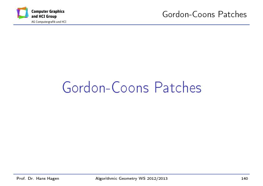 Gordon-CoonsPatches PowerPoint PPT Presentation