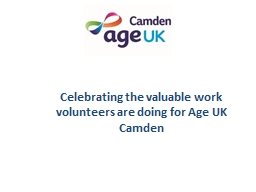 Celebrating the valuable work volunteers are doing for Age