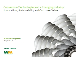 Innovation, Sustainability and Customer Value