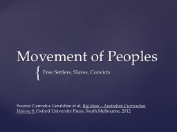 Movement of Peoples