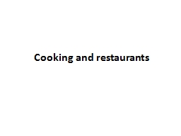 Cooking PowerPoint PPT Presentation
