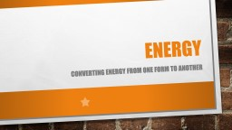 Using Energy from the sun