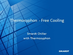 Thermosyphon - Free Cooling