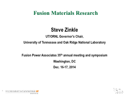Fusion Materials Research