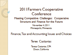 2011Farmers Cooperative Conference