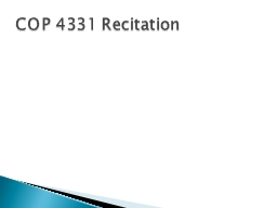 COP 4331 Recitation