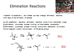 Elimination Reactions PowerPoint PPT Presentation