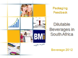 Dilutable Beverages in South Africa