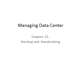 Managing Data Center
