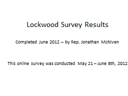 Lockwood Survey Results
