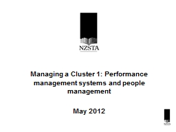 Managing a Cluster 1: Performance management systems and pe
