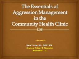 The Essentials of Aggression Management in the