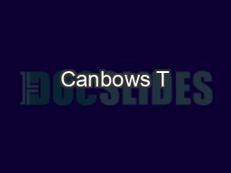 Canbows T