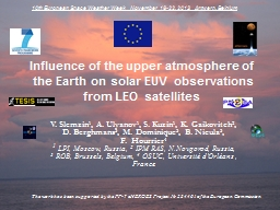 Influence of the upper atmosphere of