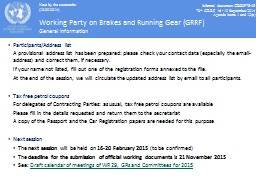 Working Party on Brakes and Running Gear (GRRF)