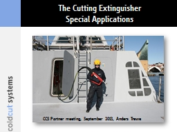 The Cutting Extinguisher PowerPoint PPT Presentation