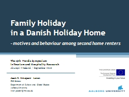 Family Holiday PowerPoint PPT Presentation