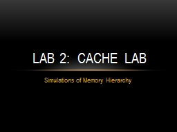 Simulations of Memory Hierarchy