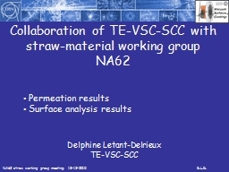 Collaboration of TE-VSC-SCC with straw-material working gro