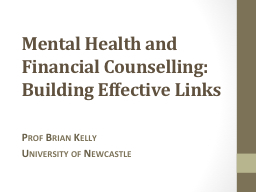 Mental Health and Financial Counselling: