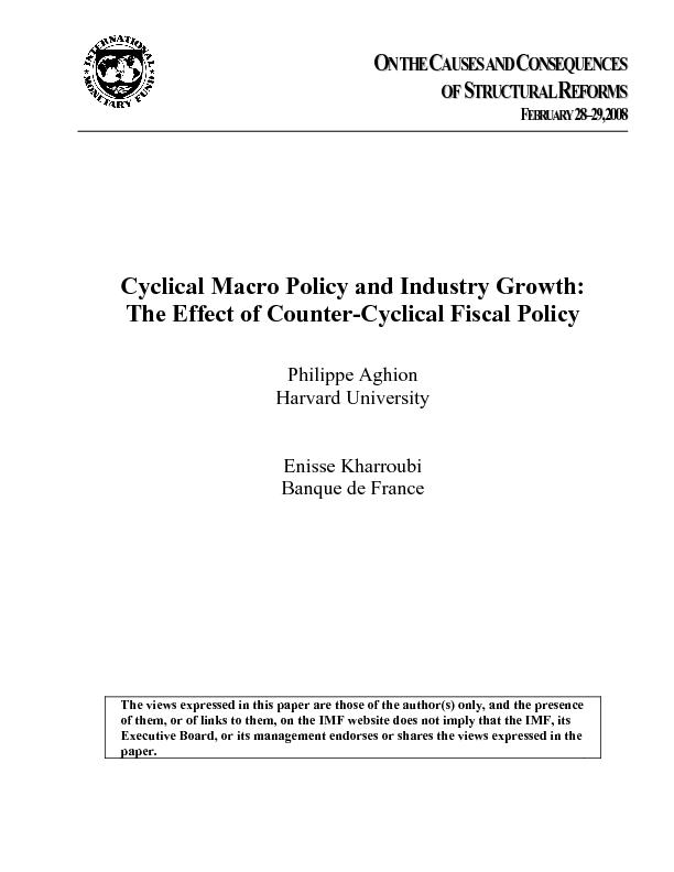 Cyclical Macro Policy and Industry Growth:  The effect of counter-cycl