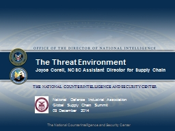 The Threat Environment PowerPoint PPT Presentation