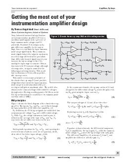 Analog Applications Journal Texas Instruments Incorporated Amplifiers Op Amps Q  www