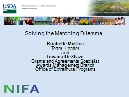 Solving the Matching Dilemma