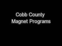Cobb County Magnet Programs