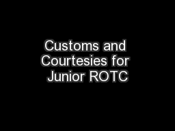 Customs and Courtesies for Junior ROTC