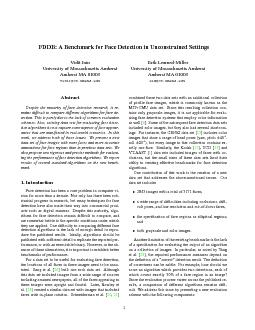 FDDB A Benchmark for Face Detection in Unconstrained Settings Vidit Jain Univers PDF document - DocSlides