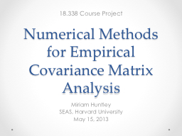 Analytic and Empirical Methods - Undergraduate Courses