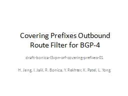 Covering Prefixes Outbound Route Filter for BGP-4