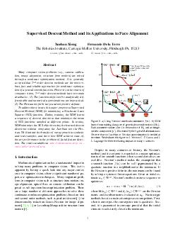 Supervised Descent Method and its Applications to Face Alignment Xuehan Xiong Fe PDF document - DocSlides